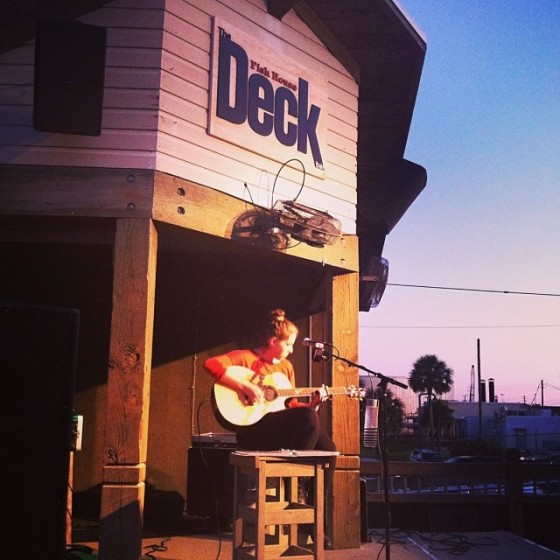 Jourdan Pace singing at the Deck Bar! #sunset #drinks #livemusic #deckbar #fishhousepensacola #downtownpensacola