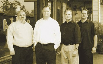 The Merrill brothers (Will, Collier and Burney) and Chef Jim Shirley
