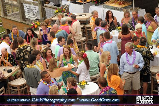 Luau Wedding at the Fish House Deck Bar