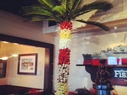 #fruit #palmtree #chocolatefountain #fishhousepensacola #greatsoutherncatering