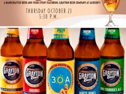 Hops & Harvest Beer Dinner tonight at #jacksonsrestaurant ! #graytonbeercompany #hops&harvest - Only a few seats left, call us now to book your table!