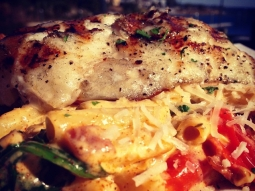 Today's lunch! #grouper #seafood #pasta #fishhousepensacola #yum #foodporn