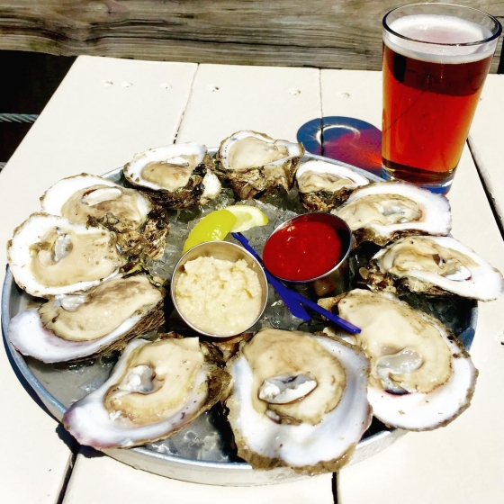 Monday's = Oysters. Join us at Atlas for Oyster Night tonight! Your first dozen raw for 25 cents each! #downtownpensacola #oysters #pensacola