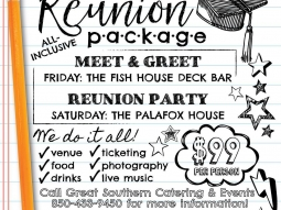 Planning your high school reunion? Let us do all the work!  We will take care of all the details!! Great Southern has created an all-inclusive high school reunion package. The Reunion Package is designed for a reunion committee to make the planning and coordination of the event seamless.  Click here to read more: http://greatsouthernrestaurants.com/2017/01/great-southern-introduces-all-inclusive-reunion-package/