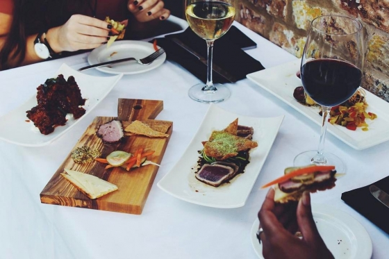 """""""Bring your Jackson to Jackson's """" and snag an appetizer and 2 glasses of house wine for only $20! #jacksonsrestaurant"""