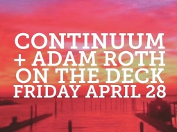 Kick off the weekend with us tonight! Adam Roth will perform on The Deck 7-9 p.m.! Continuum will perform at 9 p.m. ???