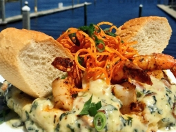 It's a perfect day for Grits a Ya Ya while looking over Pensacola Bay!!!