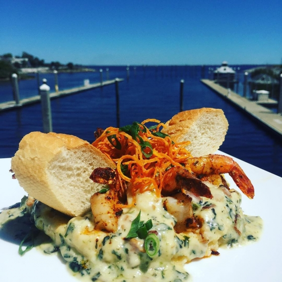 The sun is finally out! Come see us for lunch with a view! #gritsayaya #downtownpensacola #fishhousepensacola