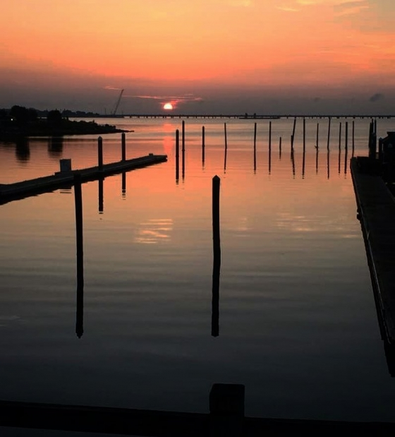 This morning's sunrise over Pensacola Bay! Hope everyone has a great day!