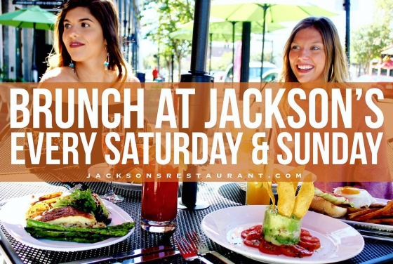 Make sure to stop by for $10 bottomless champagne after hitting the shops on this beautiful Saturday! SOGO District Pensacola #JacksonsRestaurant #SaturdayBrunch
