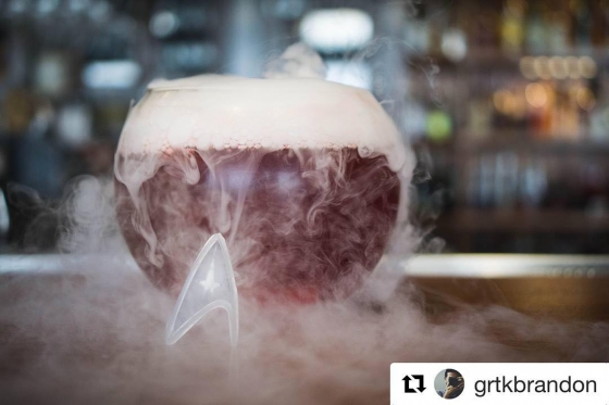 #Repost @grtkbrandon with @get_repost ??? #Pensacon is nearly here. Be sure to head over to @fishhousepensacola during Pensacon week to snag some awesome drinks like this one, The Warped Core Breach.  #pensacola #downtownpensacola #palafox #fandom #startrek #nerdy #alcohol #adultbeverage #liquor #florida #thefishhouse