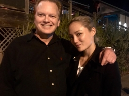 Last night we had the chance to welcome @pom.klementieff to the Fish House! Here she is pictured with our own Burney Merrill. Pom has appeared in Guardians of the Galaxy: Vol 2 and the new Avengers: Infinity War coming out in 2018. Thanks for joining us, Pom! #pensaconatfishhouse #pensacon #fishhouse