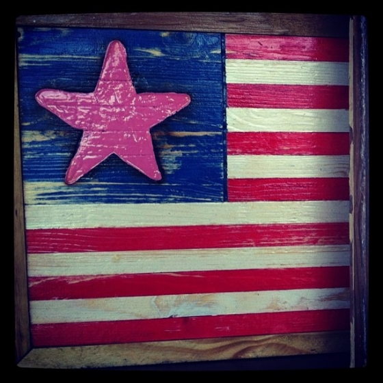 Stop by the #FishHouse #TackleShop to pick up a one of a kind Pink Star mailbox American Flag. Our very own manager, Brian Wielhouwer, is the artist behind the handmade wooden American flags. Proceeds go towards the American Cancer Society in honor of Breast Cancer Awareness month. #americancancersociety #breastcancerawareness #american #flags #fishhousepensacola #downtownpensacola #art @reelthing @thewoodenartisan