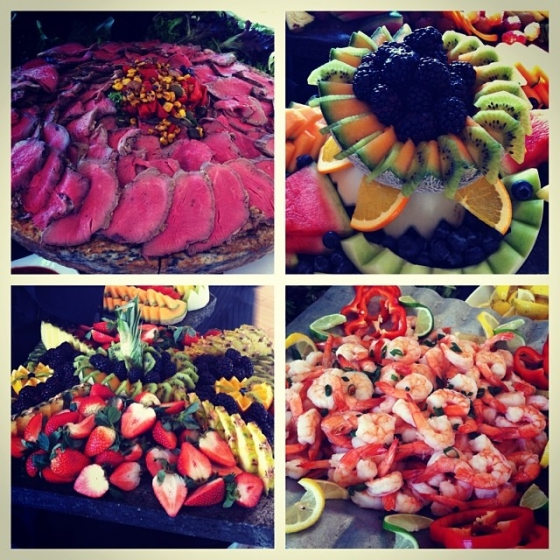 Food displays from our catering job yesterday. #shrimpcocktail #beeftenderloin #fruit #fishhouse #pensacola #foodporn #catering #greatsoutherncateringandevents