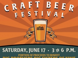 Join us on the waterfront deck this Saturday for The 5th Annual Fish House Craft Beer Festival! 75 different beers + live music! A portion of the event proceeds will benefit Big Brothers Big Sisters of Northwest Florida.