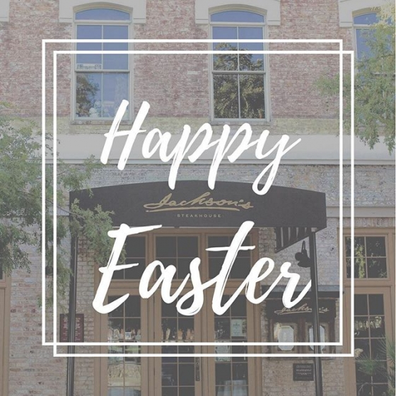 Happy Easter on behalf of all of us here at Jackson's! We hope you have a wonderful Sunday with friends and family!