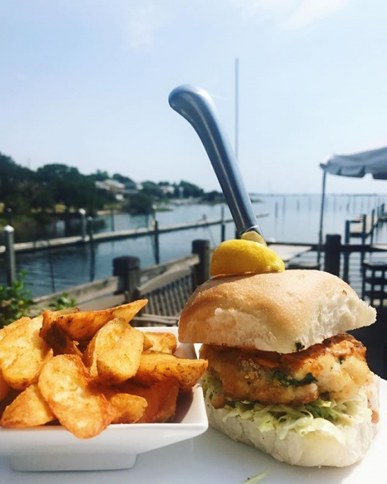 Happy Monday!  National Burger Month continues with our new burger of the week: The Shrimp Burger topped with slaw and comeback sauce, served with a side of fries YUM