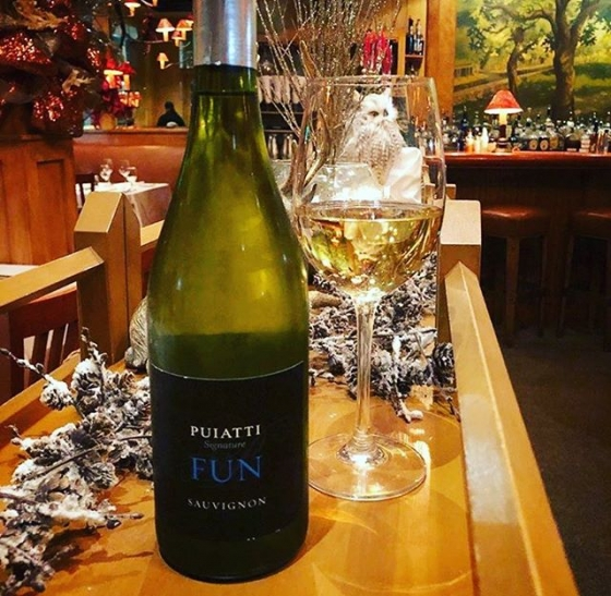 Wine Director Brooke Parkhurst's selection for this week's wine special certainly is FUN!  Puiatti makes this beautiful Saugvinon Blanc in the Fruili region of Italy that is crisp and herbaceous with those familiar citrus notes you expect in Sauvignon Blanc. Come in and try it for yourself by the glass ($10) or bottle ($35).