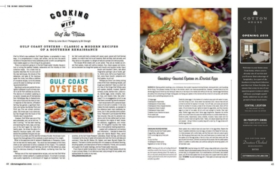 Go check out @okramag Issue 7 featuring a wonderful review of our very own @chefirvmiller latest cookbook, Gulf Coast Oysters.  You can pick up your very own copy of Gulf Coast Oysters at the restaurant, or over at our Tackle Shop located at the Fish House.  https://greatsouthernrestaurants.com/shop/gulf-coast-oysters-classic-modern-recipes-of-a-southern-renaissance-cookbook/
