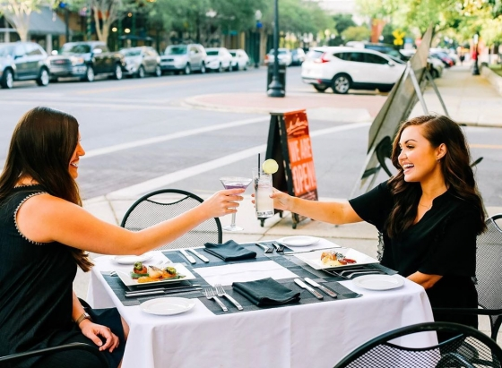 Cheers to the weekend! Celebrate with a drink on our patio overlooking Palafox Street!