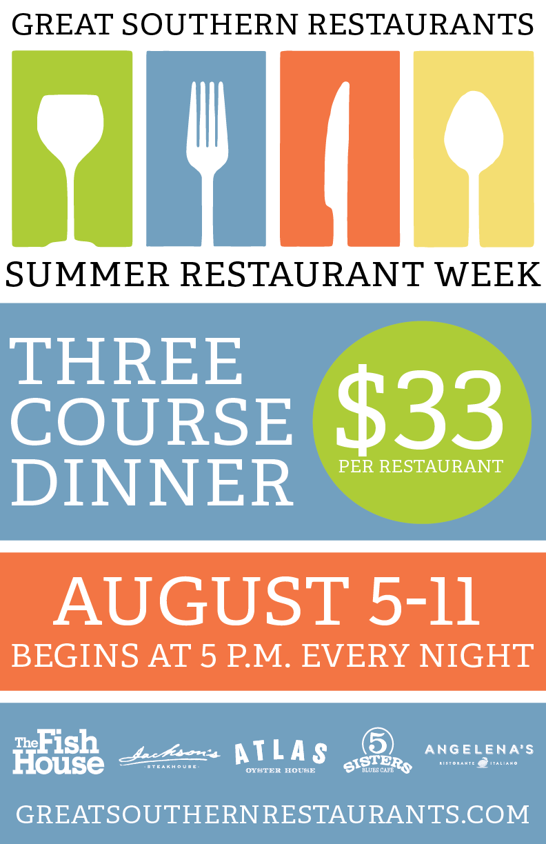 great southern restaurants great southern restaurants presents summer restaurant week august 5 11 2019 great southern restaurants great southern restaurants great
