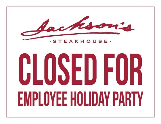 We will be open for brunch today from 11am-2pm. The restaurant will close for dinner service today at 2pm for our company holiday party. We apologize for any inconvenience this may cause and will be back to regular business hours tomorrow!