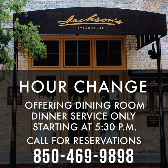 Beginning today, we will close for lunch service in the dining room. Chef Irv is putting together a family style menu for curbside pick-up that will be available 11:00 a.m.- 8:00 p.m. Keep an eye out on our socials, as we will post the menu as soon as it is available. ?? ?? We will still remain open for dinner service in the dining room with our full dinner menu available 5:30 p.m. - 10:00 p.m. The family style pick-up option will also be available during dinner until 8:00 p.m. for curbside pick-up.?? ?? Please be sure to follow us on all of our social platforms where we will be keeping you constantly updated on all of our information as we do our best to move forward. Thank you for bearing with us through these difficult circumstances that have taken such an effect on our small business community. Please stay safe Pensacola, and remember, we are Pensacola strong! ?