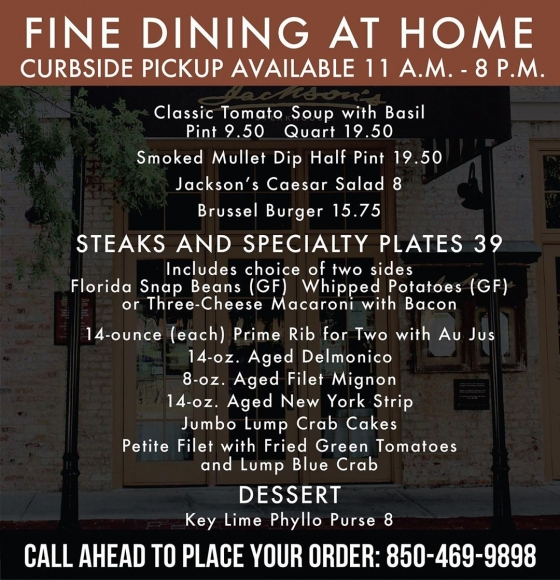 Beginning today, we will close for lunch service in the dining room. Chef Irv has put together a family style menu for curbside pick-up that will be available 11:00 a.m.- 8:00 p.m. Keep an eye out on our socials, as we will post the menu as soon as it is available. ??? ??? We will still remain open for dinner service in the dining room with our full dinner menu available 5:30 p.m. - 10:00 p.m. The family style pick-up option will also be available during dinner until 8:00 p.m. for curbside pick-up.??? ??? Please be sure to follow us on all of our social platforms where we will be keeping you constantly updated on all of our information as we do our best to move forward. Thank you for bearing with us through these difficult circumstances that have taken such an effect on our small business community. Please stay safe Pensacola, and remember, we are Pensacola strong! ?