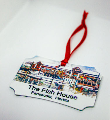 great southern restaurants fish house and atlas oyster bar christmas ornament by nina fritz great southern restaurants fish house and atlas oyster bar christmas ornament by nina fritz